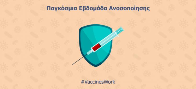 Παγκόσμια Εβδομάδα Ανοσοποίησης και Εμβολιασμού (24-30 Απριλίου 2019)