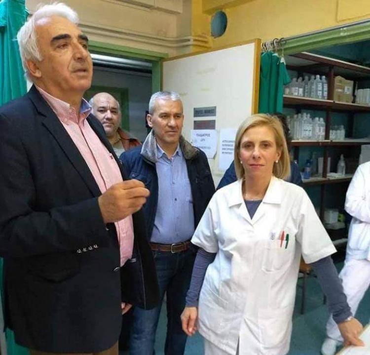 Το Κέντρο Υγείας Αλεξάνδρειας επισκέφτηκε ο υποψήφιος δήμαρχος Μιχάλης Χαλκίδης