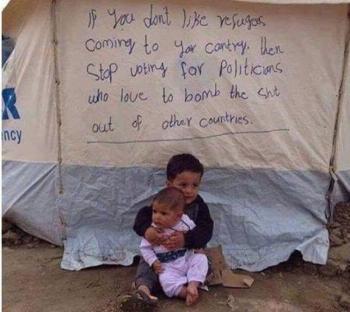 Στα πρόσωπα των προσφυγόπουλων ο Χριστός
