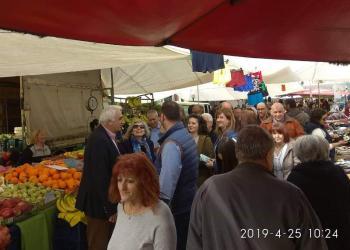 Επίσκεψη στη λαϊκή αγορά Μελίκης του υποψήφιου δημάρχου Αλεξάνδρειας Μ.Χαλκίδη και των συνεργατών του