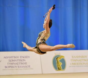 Ασημένιο μετάλλιο η Ελισάβετ Χωματά στους πανελλήνιους αγώνες ρυθμικής γυμναστικής