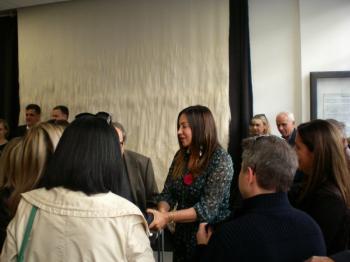 Περιοδεία της υποψήφιας ευρωβουλευτή της ΝΔ Βίκυς Φλέσα στη Βέροια