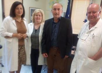 Το Κ.Υ. Βέροιας (πρώην ΙΚΑ) επισκέφτηκε ο υποψήφιος περιφερειακός σύμβουλος Ημαθίας Βασίλης Κωνσταντινόπουλος