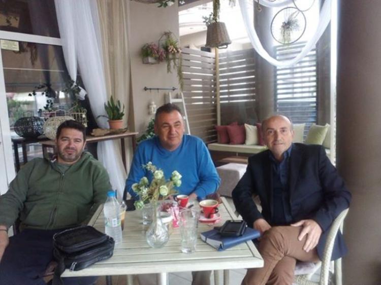 Συνάντηση του υποψηφίου περιφερειακού συμβούλου Ημαθίας Β.Κωνσταντινόπουλου με τον πρόεδρο του Α.Σ.Γ. Βέροιας
