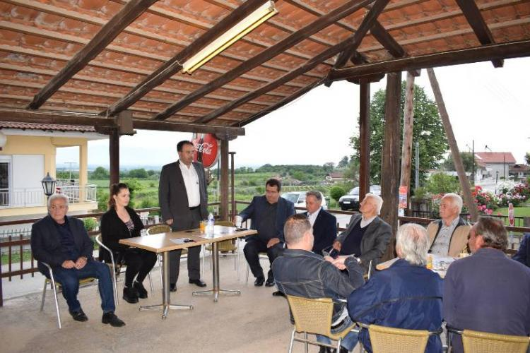 Γεωργιανούς και Τρίλοφο επισκέφτηκε ο Κώστας Βοργιαζίδης το Σαββατοκύριακο