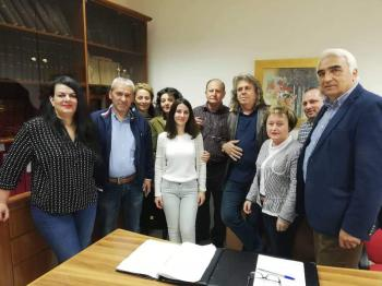Επίσκεψη του Μ. Χαλκίδη με ομάδα συνεργατών του σε ΙΚΑ Αλεξάνδρειας και ΟΑΕΔ