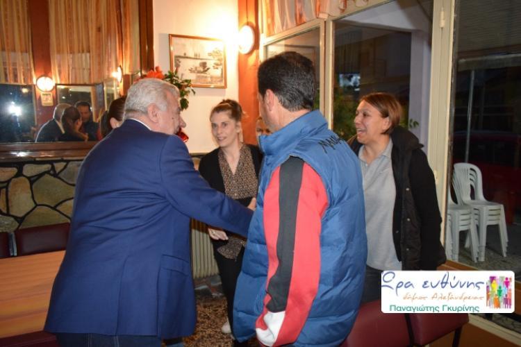Νεοχώρι, Σχοινά, Άραχο και Τρίκαλα επισκέφτηκε ο Π. Γκυρίνης