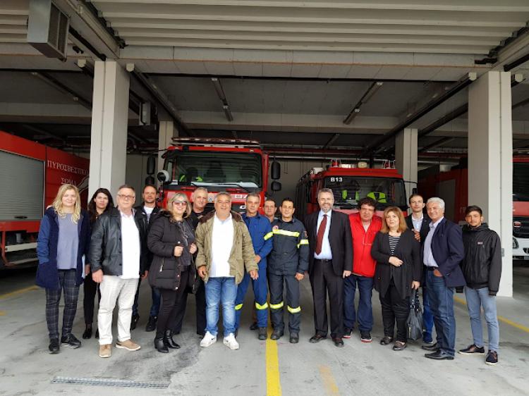 Επίσκεψη Γιάννη Παπαγιάννη στην Πυροσβεστική Υπηρεσία Βέροιας