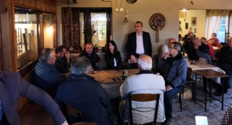 Οι «ΣΥΝΔΗΜΟΤΕΣ» και ο επικεφαλής τους, υποψήφιος δήμαρχος Βέροιας, κ. Παύλος Παυλίδης στα Ασώματα