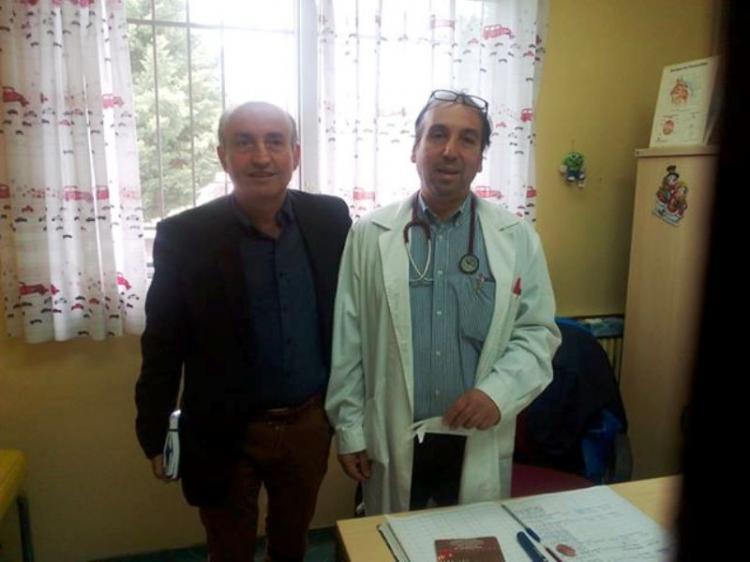 Επίσκεψη του Β. Κωνσταντινόπουλου στο Κέντρο Υγείας Αλεξάνδρειας
