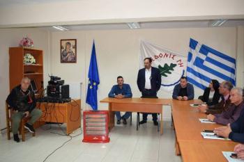 «Δημόσιο Διάλογο» στα Ριζώματα πραγματοποίησε ο Κώστας Βοργιαζίδης