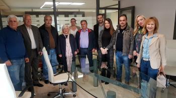 Τις αγροτοβιομηχανίες στο Δήμο Βέροιας επισκέφθηκε η Γεωργία Μπατσαρά