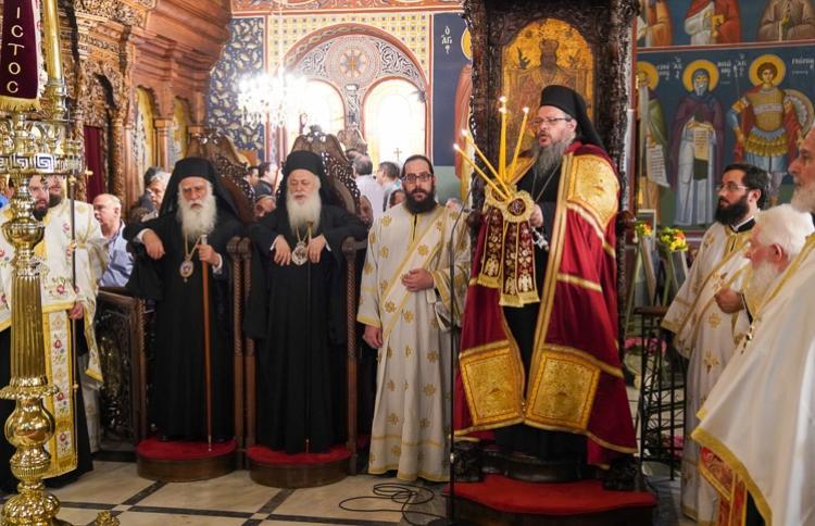 Πανηγυρικός τρισαρχιερατικός Εσπερινός Αγίας Φωτεινής στη Νέα Σμὐρνη