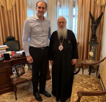 Συνάντηση του Απόστολου Βεσυρόπουλου με το Μητροπολίτη κ. Παντελεήμονα