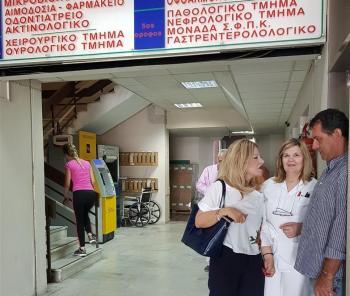 Σε γνώριμο της εργασιακό χώρο, το Νοσοκομείο Βέροιας, βρέθηκε η υποψήφια βουλευτής της ΝΔ, Νίκη Καρατζιούλα