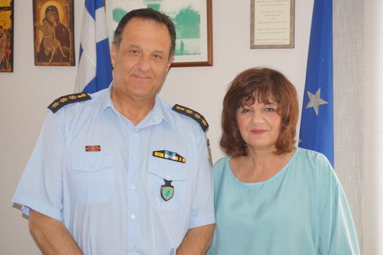 Με το διευθυντή της Διεύθυνσης Αστυνομίας και το Δ.Σ. των  Αστυνομικών Υπαλλήλων Ημαθίας συναντήθηκε η Φρόσω Καρασαρλίδου
