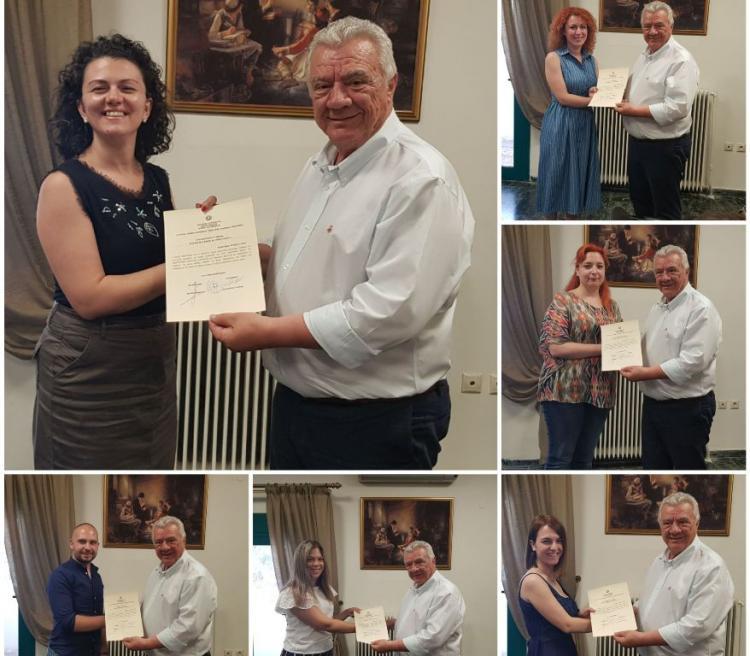 Βράβευση Εθελοντών Καθηγητών Κοινωνικού Φροντιστηρίου Δήμου Αλεξάνδρειας