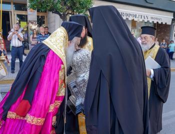 Υποδοχή της Τιμίας Κάρας του Αποστόλου Ανδρέου στη Βέροια