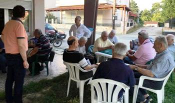 Περιοδεία Λάζαρου Τσαβδαρίδη σε χωριά του Δήμου Νάουσας