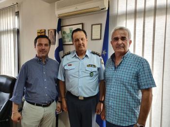 Συνάντηση του Νικόλα Καρανικόλα με τον αστυνομικό διευθυντή Ημαθίας