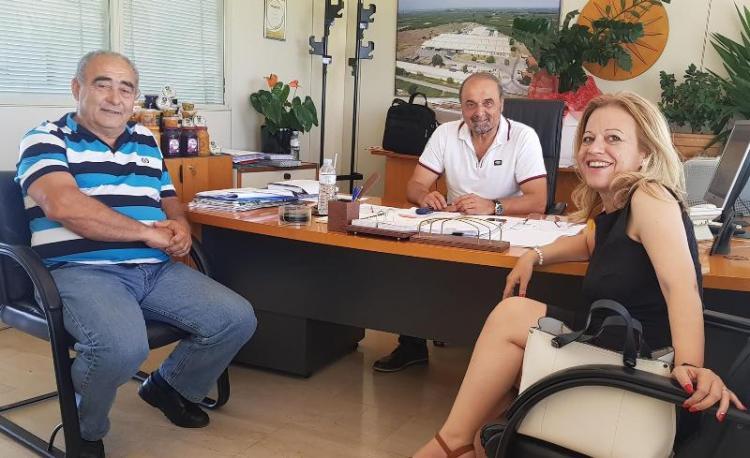 Επίσκεψη της υποψήφιας βουλευτή Ημαθίας με τη ΝΔ, Νίκης Καρατζιούλα, σε «Νέο Αλιάκμονα», «Μέση» και ΑΛ.Μ.ΜΕ