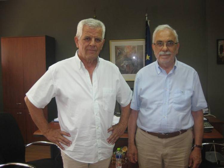 Σημειολογικές επισκέψεις του Τηλέμαχου Χατζηαθανασίου σε Δήμο, Νοσοκομείο και Αστυνομία Ημαθίας