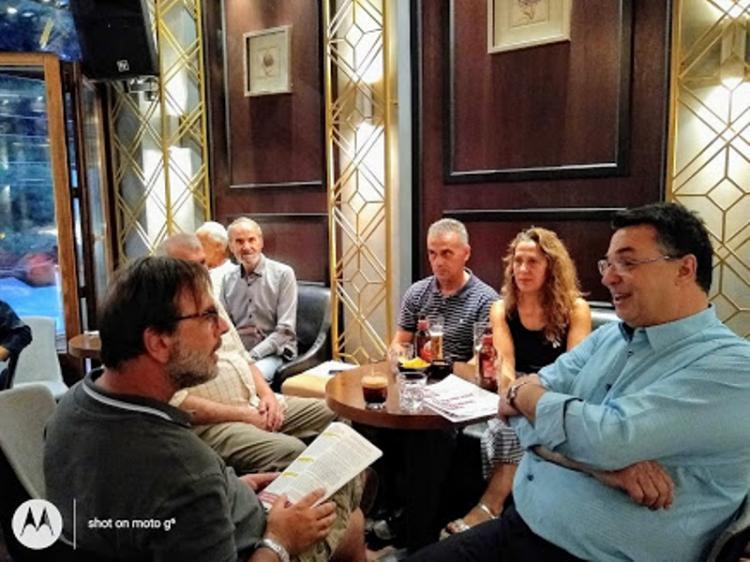 Συγκέντρωση φίλων και γνωστών του υποψήφιου βουλευτή του ΚΚΕ Θωμά Π. Τσουκαλά