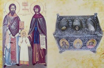Τα λείψανα των Αγίων Ραφαήλ, Νικολάου και Ειρήνης στον Ι.Ν. Αγίας Παρασκευής Πατρίδας Ημαθίας