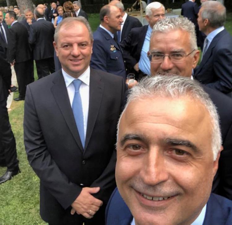 Ο Λάζαρος Τσαβδαρίδης στη γιορτή για την 45η επέτειο της αποκατάστασης της Δημοκρατίας