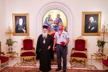 Ο νέος Αστυνομικός Διευθυντής Ημαθίας κ. Διονύσιος Κούγκας επισκέφθηκε το Σεβασμιώτατο κ.Παντελεήμονα