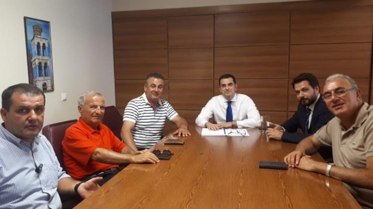 Συνάντηση μελών του Α.Σ.Γ. Βέροιας και εκπροσώπων συν/σμών της Ημαθίας με τον υφ. Αγροτικής Ανάπτυξης Κ. Σκρέτα
