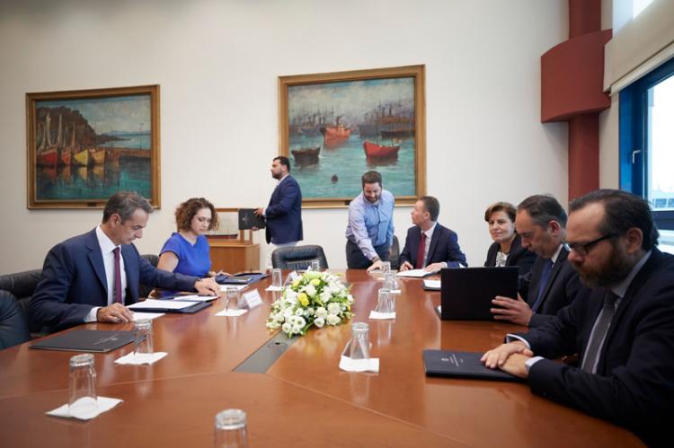 Σύσκεψη στο υπουργείο Ναυτιλίας και Νησιωτικής Πολιτικής υπό την προεδρία του Πρωθυπουργού Κυριάκου Μητσοτάκη