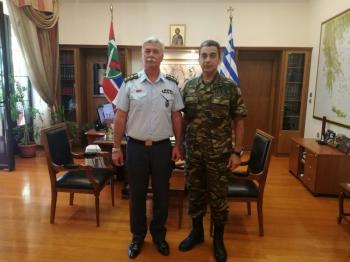 Εθιμοτυπική επίσκεψη του Διευθυντή της Διεύθυνσης Αστυνομίας Ημαθίας στο Διοικητή Ι ΜΠ