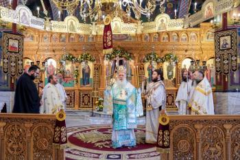 Αρχιερατική Θ. Λειτουργία ενώπιον της Ι. Εικόνας της «Παναγίας του Όρους των Ελαιών» στην Αλεξάνδρεια και Χειροθεσία Αναγνωστών