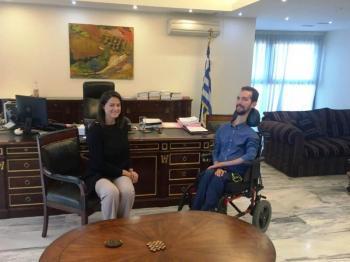 Συνάντηση της υπουργού Παιδείας και Θρησκευμάτων, Ν. Κεραμέως, με τον ευρωβουλευτή της ΝΔ Στ. Κυμπουρόπουλο
