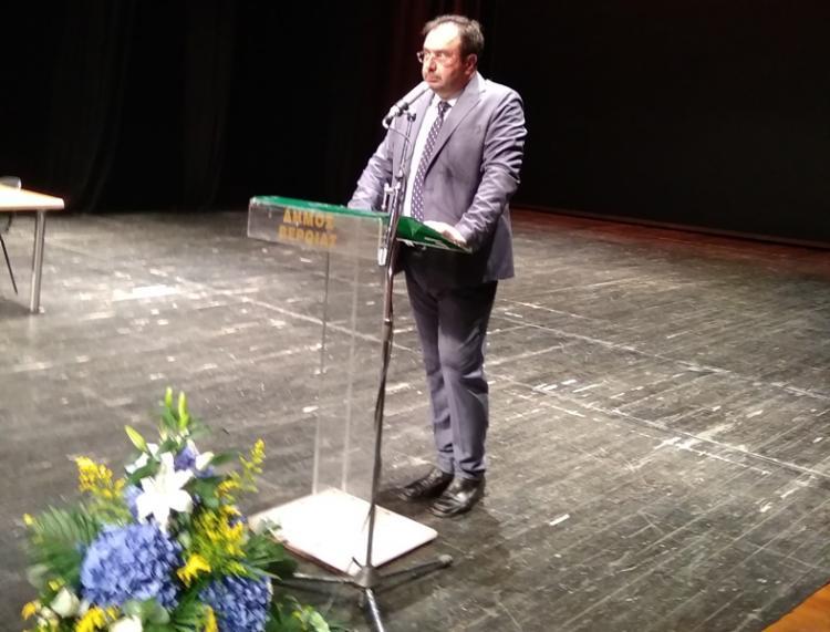 Κ. Βοργιαζίδης στη χθεσινή τελετή ορκωμοσίας : «Η αναπτυξιακή πορεία του Δήμου Βέροιας θα συνεχιστεί»