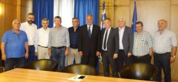 Στη συνάντηση των διεπαγγελματικών οργανώσεων με τον υπουργό Aγροτικής Aνάπτυξης, ο Χρήστος Γιαννακάκης