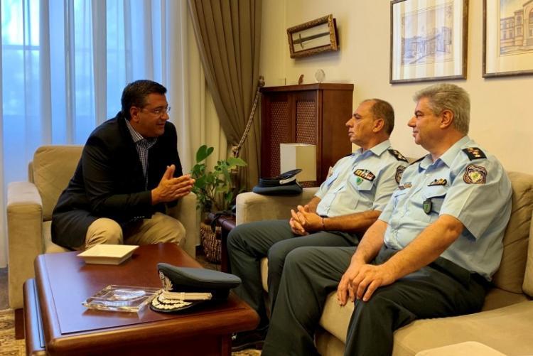 Συνάντηση του Περιφερειάρχη Κ.Μακεδονίας Απ. Τζιτζικώστα με τους επικεφαλής της ΕΛ.ΑΣ. στη Β. Ελλάδα και τη Θεσ/νίκη