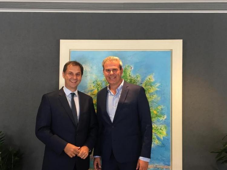 Συνάντηση του υπουργού Τουρισμού με το νέο Γενικό Γραμματέα του ΕΟΤ
