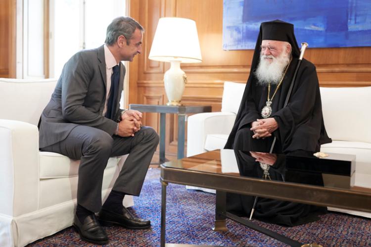Συνάντηση του Πρωθυπουργού Κυριάκου Μητσοτάκη με τον Αρχιεπίσκοπο Αθηνών και Πάσης Ελλάδος κ. Ιερώνυμο