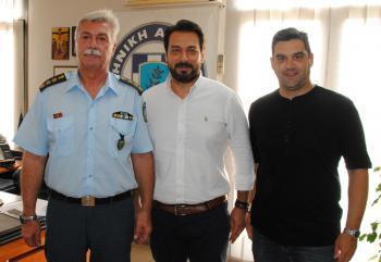 Επίσκεψη του Τάσου Μπαρτζώκα σε ΕΛΓΑ, ΕΦΚΑ και Διεύθυνση Αστυνομίας Ημαθίας