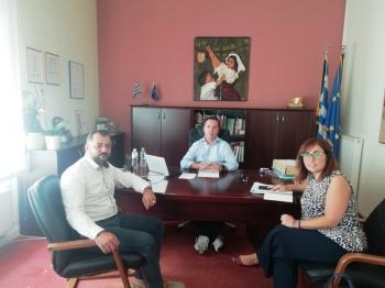 Συνάντηση γνωριμίας του δημάρχου Νάουσας με τον εκπρόσωπο της Μονάδας Ψυχικής Υγείας Ημαθίας