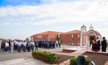 Αγιασμός στη Σχολή της Ελληνικής Αστυνομίας στη Βέροια