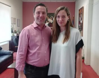 Με τη διοικήτρια του Νοσοκομείου Νάουσας συναντήθηκε ο δήμαρχος Νάουσας Ν. Καρανικόλας
