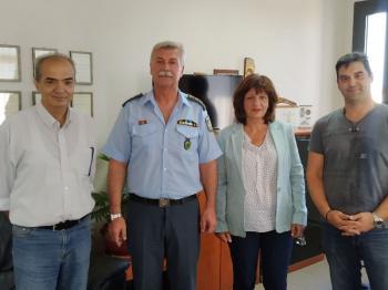Επίσκεψη Φρόσως Καρασαρλίδου στην Αστυνομική Διεύθυνση Ημαθίας