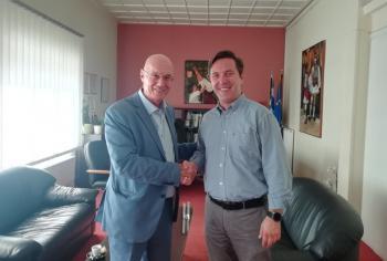 Κυκλική οικονομία και πράσινη ανάπτυξη στο επίκεντρο της συνάντησης του Δημάρχου Νάουσας με το Δ/ντή επί Τιμή στην Ευρωπαϊκή Επιτροπή