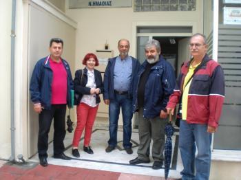 Παράσταση διαμαρτυρίας πραγματοποίησε η ΕΛΜΕ Ημαθίας στα γραφεία της Β/θμιας Εκπαίδευσης στη Βέροια