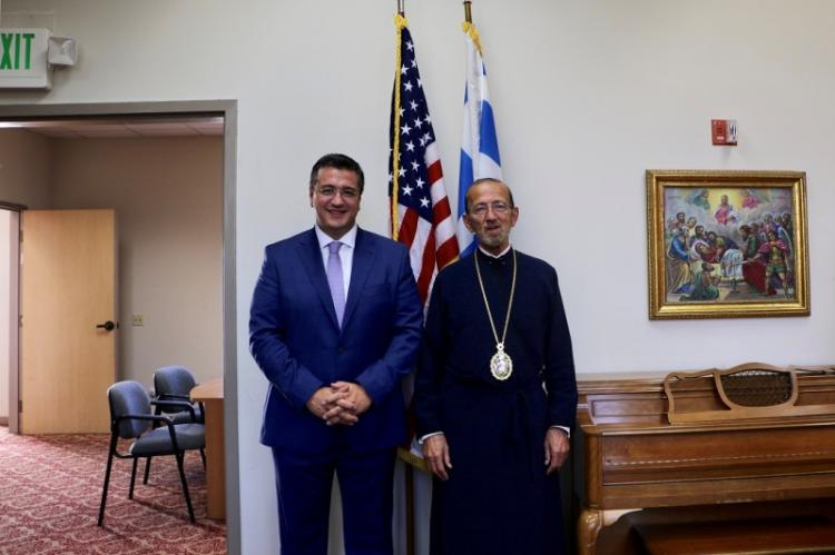 Συνάντηση του Περιφερειάρχη Κ.Μακεδονίας Απ.Τζιτζικώστα με τη Δήμαρχο του Σαν Φρανσίσκο London Breed και το Μητροπολίτη Γεράσιμο