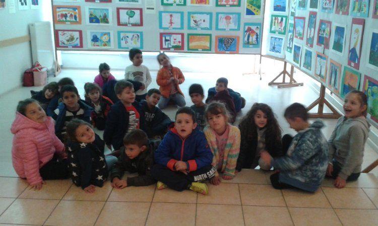 Έκθεση παιδικής ζωγραφικής από το εργαστήρι ζωγραφικής της Ευξείνου Λέσχης Ποντίων Νάουσας