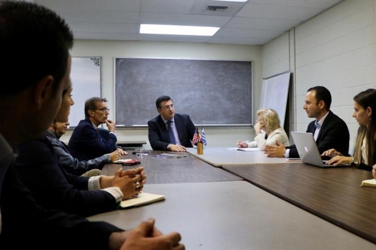 Συναντήσεις του Απ.Τζιτζικώστα με τον Γερουσιαστή της Καλιφόρνια Anthony Portantino και το Δ.Σ. του Ελληνοαμερικανικού Συμβουλίου